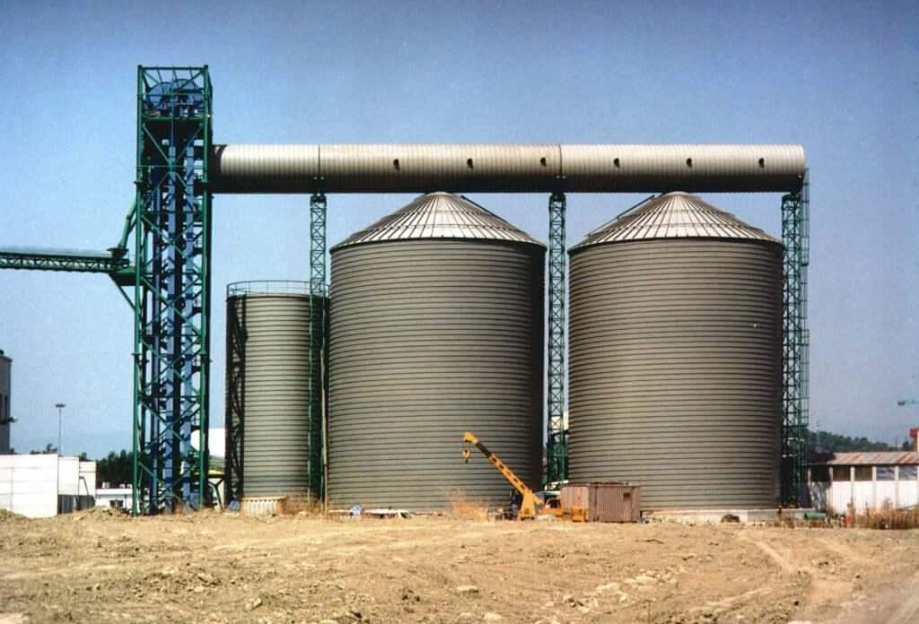 biomasses spiral silos