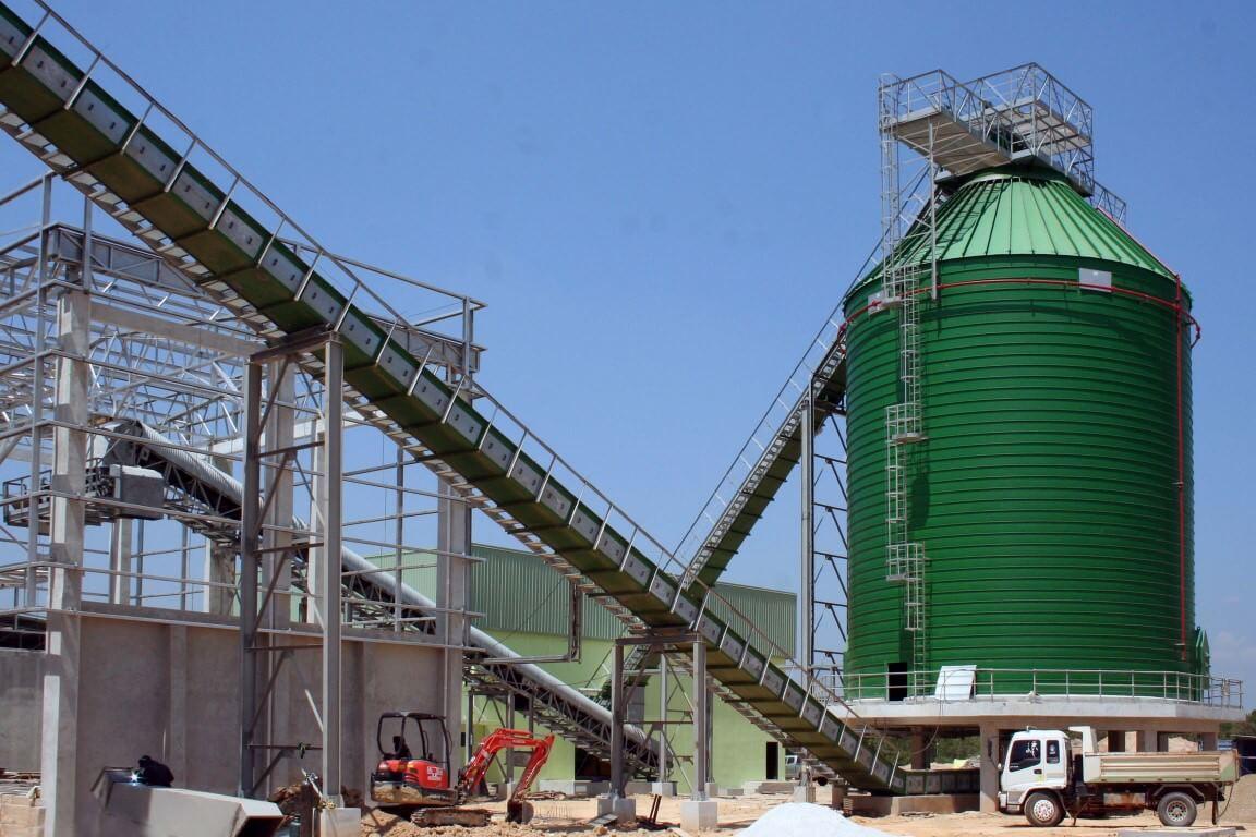 biomasses spiral silos - thailand