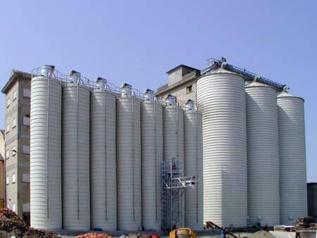 flowers silos