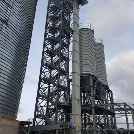 soda ash silos